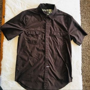 Hurley short sleeve button down men's size M